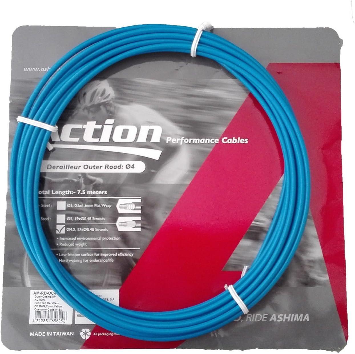 Funda para Cable de Cambio Profesional Color Azul 7.5m ASHIMA ...