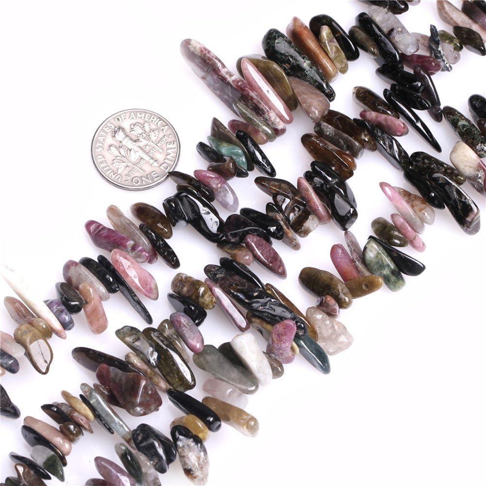 ¿Sweet & happy girl's de la piedra preciosa tienda de Turmalin FreefromSto? Cadena de perlas de dientes 38.1 cm de la joyería de la producción de la perla, 8-18mm Turmalin