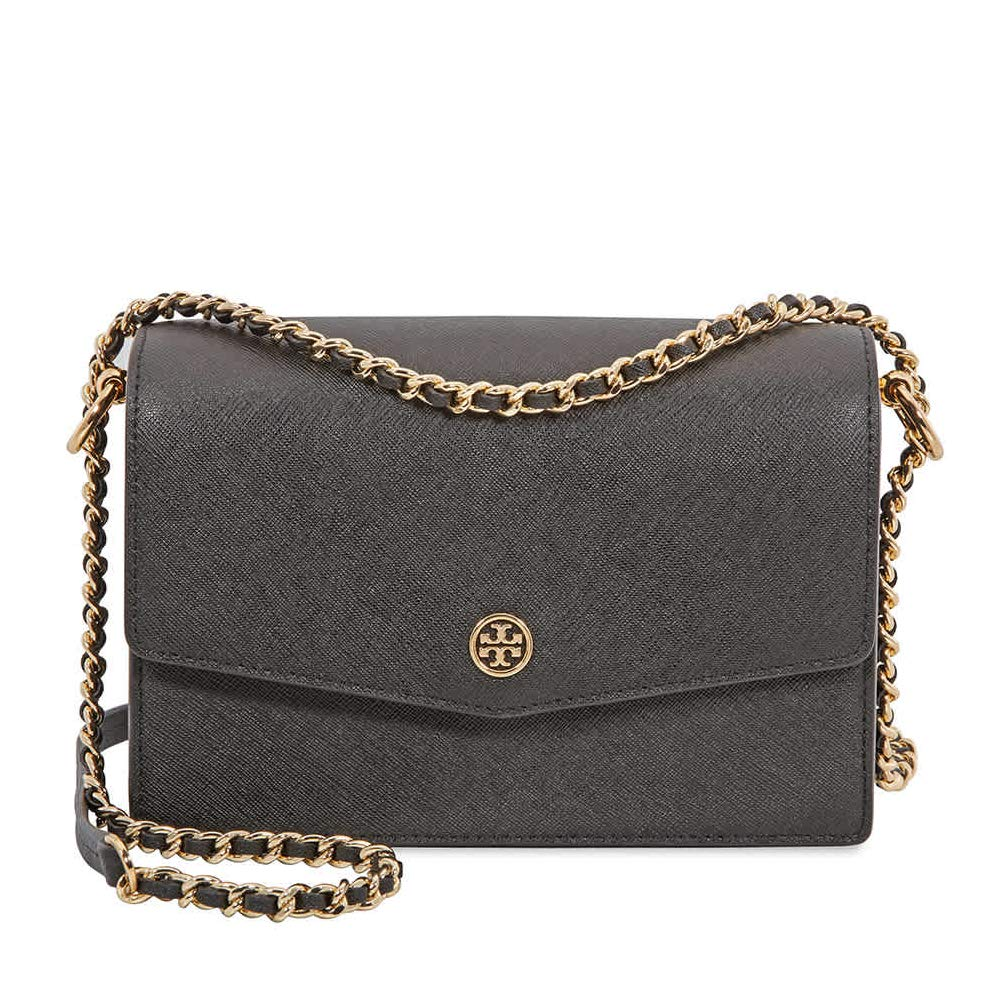 d76ec2cd403 Tory Burch women Robinson crossbody bag black  Handbags  Amazon.com