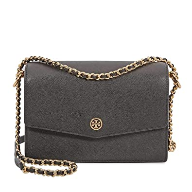 184b5bcfce9 Tory Burch women Robinson crossbody bag black  Handbags  Amazon.com