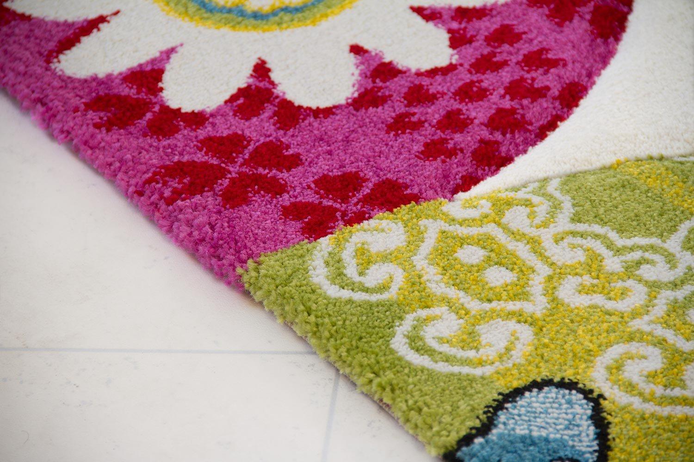 Kinder Teppich Vogel Theo - Little Little Little Carpet Kinderteppich beige - Öko-Tex zertifiziert, Größe  120x170 cm efe7c2