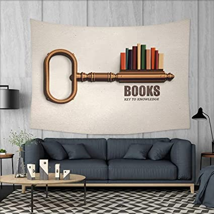 Amazon Com Anniutwo Book Art Wall Decor Key Shaped Bookshelf With