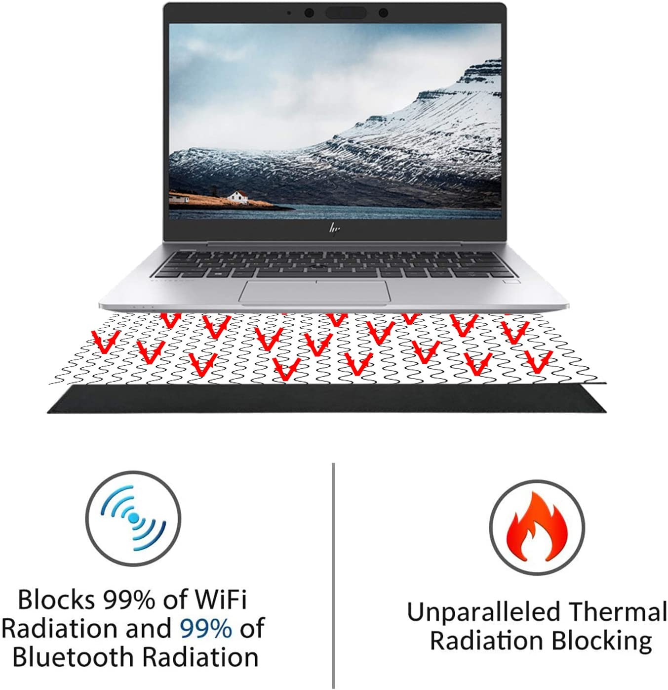 EMF Free to Protect Your Loved Ones 16 Multi-Layer Shielding Laptop Anti Radiation Protector /& EMF Blocker Radiation Shielding for Laptop iPad MacBook Mobiles Phones EMF Radiation Protection Pad