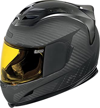 Icon Airframe Ghost Carbon - Casco integral para moto o quad, color negro carbón