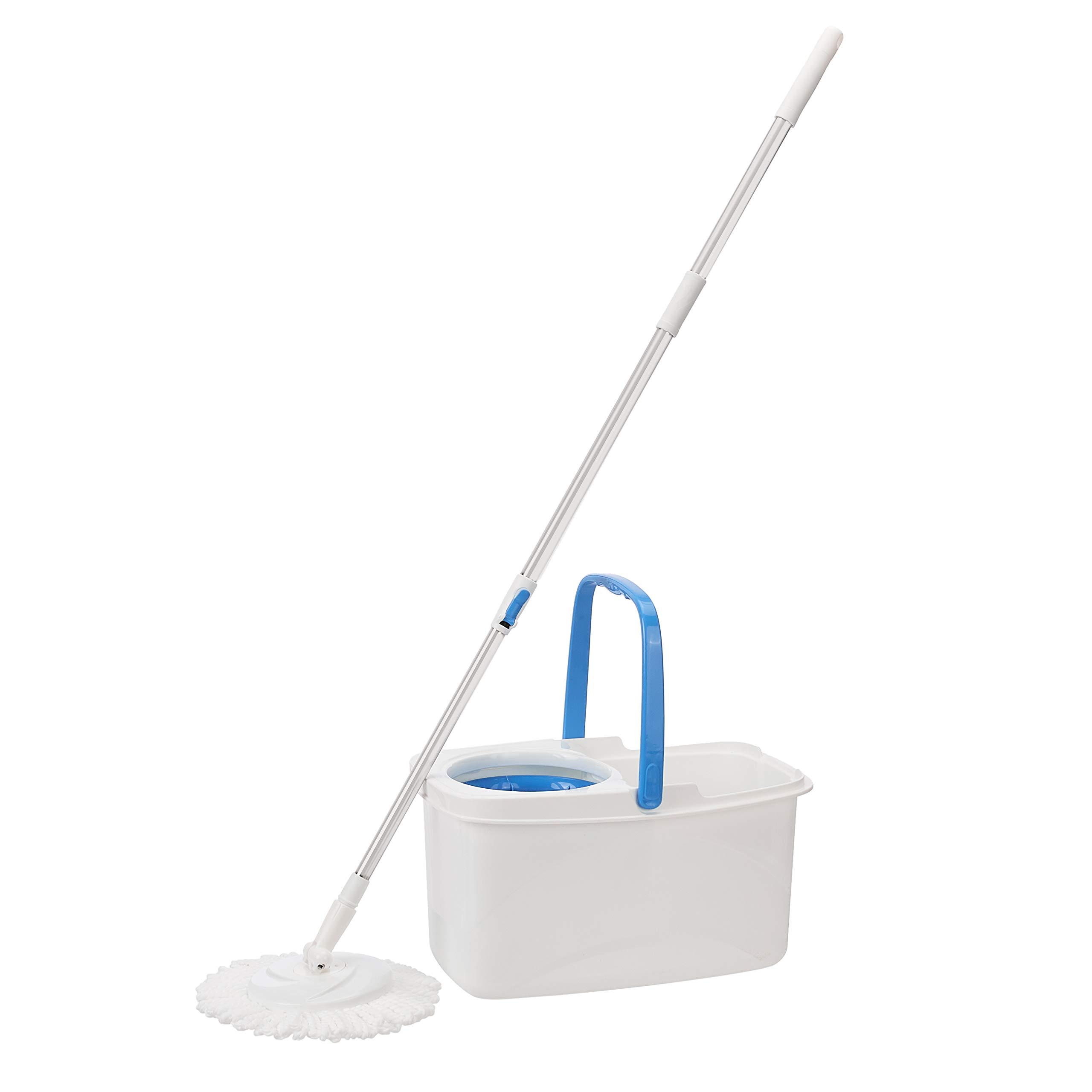 AmazonBasics Spin Mop with Built-In Ringer and Large Water Bucket