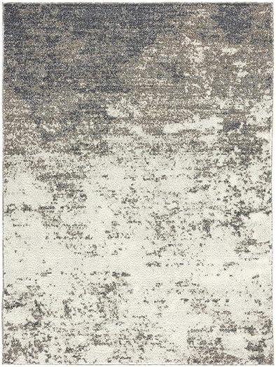 Luxe Weavers Euston Gray 8 x 10 Abstract Modern Area Rug