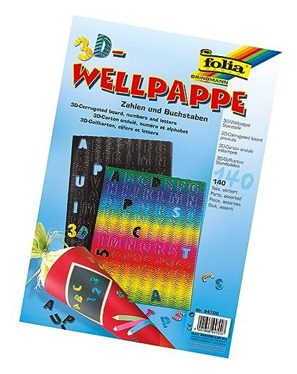 Folia 94700 3D Onda Stanz Piezas, Letras y números 140 Unidades ...