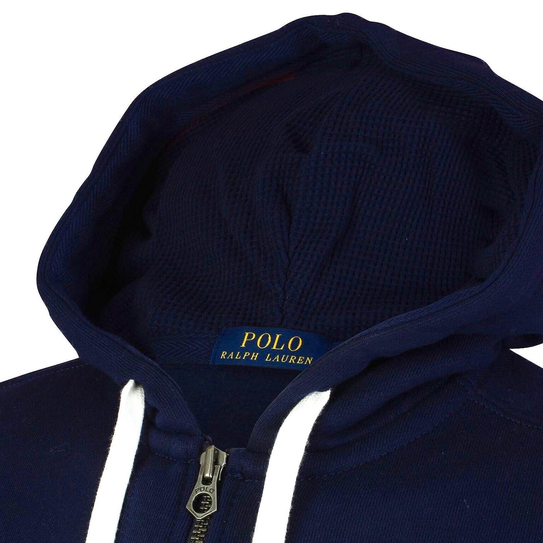 Ralph Lauren Sweat Shirt Polo à glissière complète Sweat à Capuche Coton pour Homme