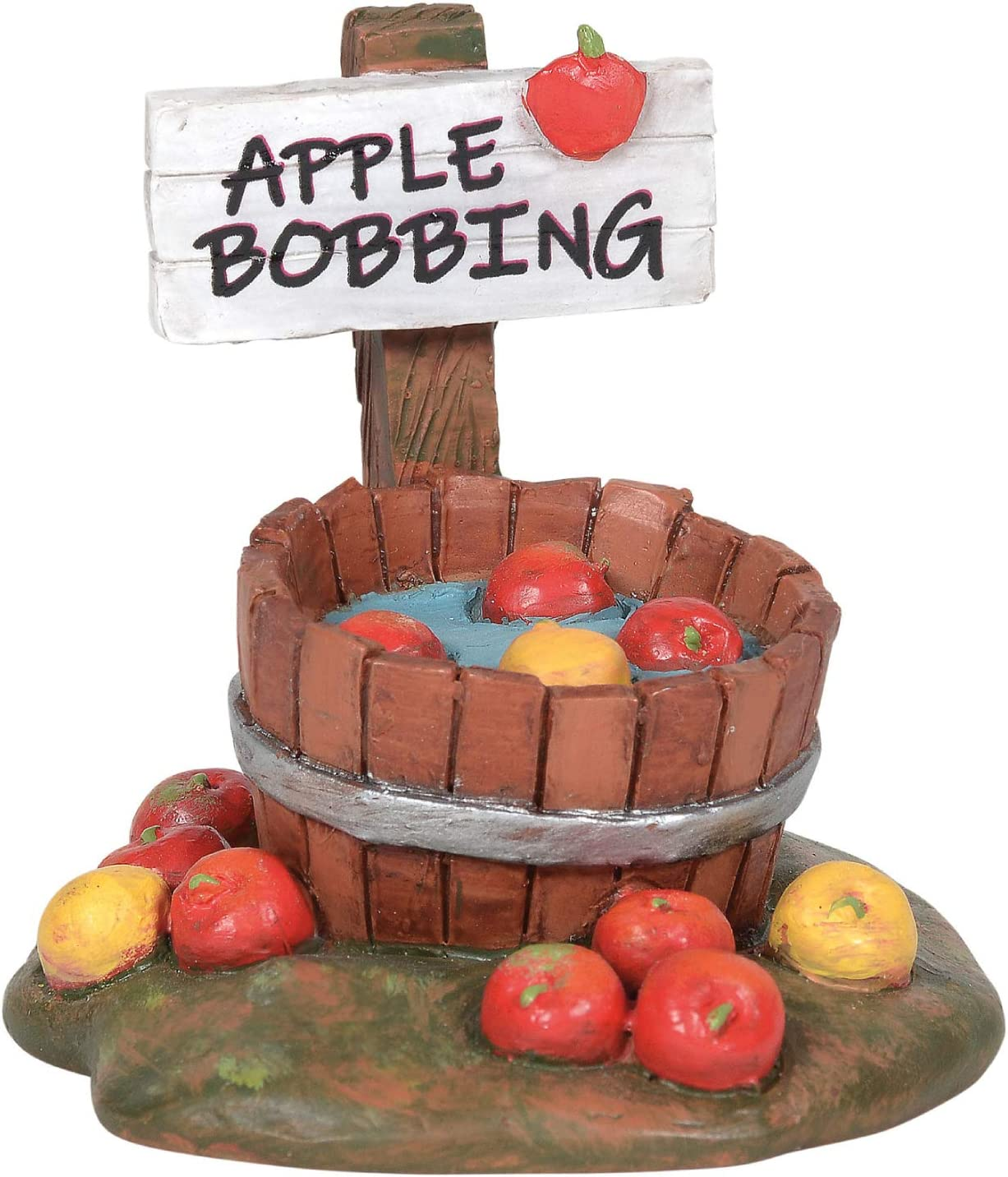 Department 56 Village Collection Accessories Halloween Bobbing for Apples Figurine, 2.13 Inch, Multicolor
