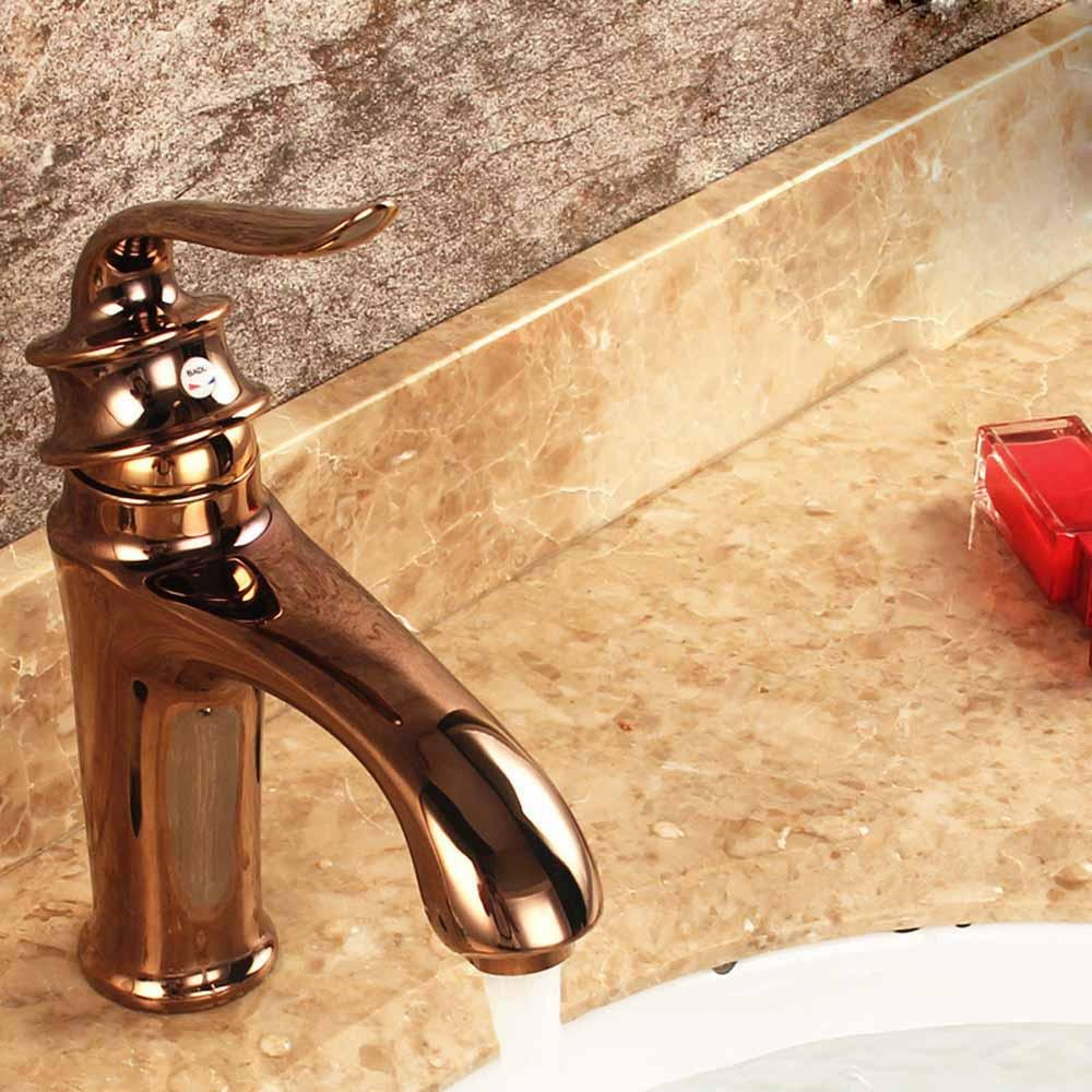 JIAHENGY Sink Mixer Faucet tap Modern fashion simple fashion Traditional Colonial Bridge Cross Knobs Handles Rose gold Toilet Kitchen bathroom