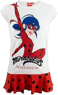 Miraculous LadyBug e Cat Noir - Camicia da Notte Maniche Corte - Full Print Glitterata - Bambina - Prodotto Originale - 9312ES