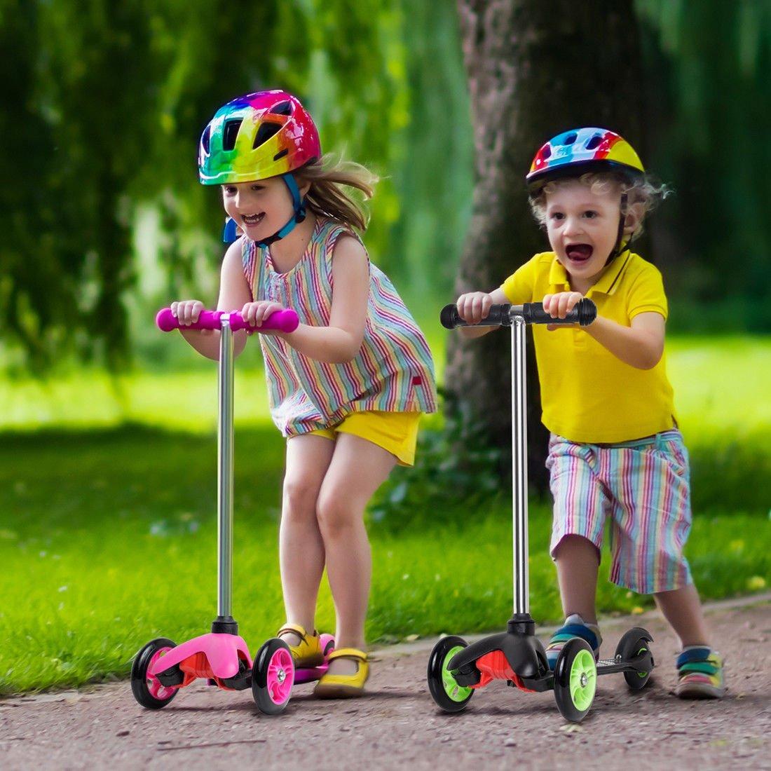 Amazon.com: m.e.r.a. nuevo scooter para niños, Deluxe rosa 3 ...