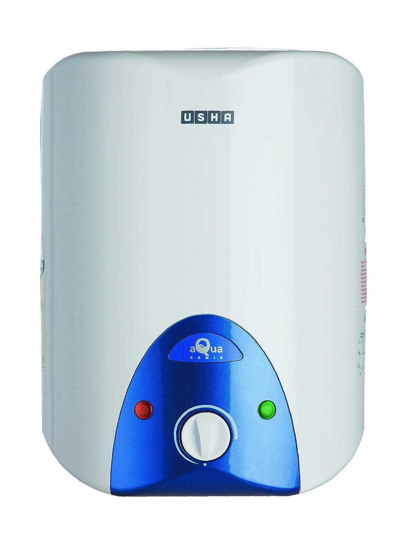 Usha Aquagenie 6 LTR 2500-Watt 5 Star Storage Water Heater (Cyan)