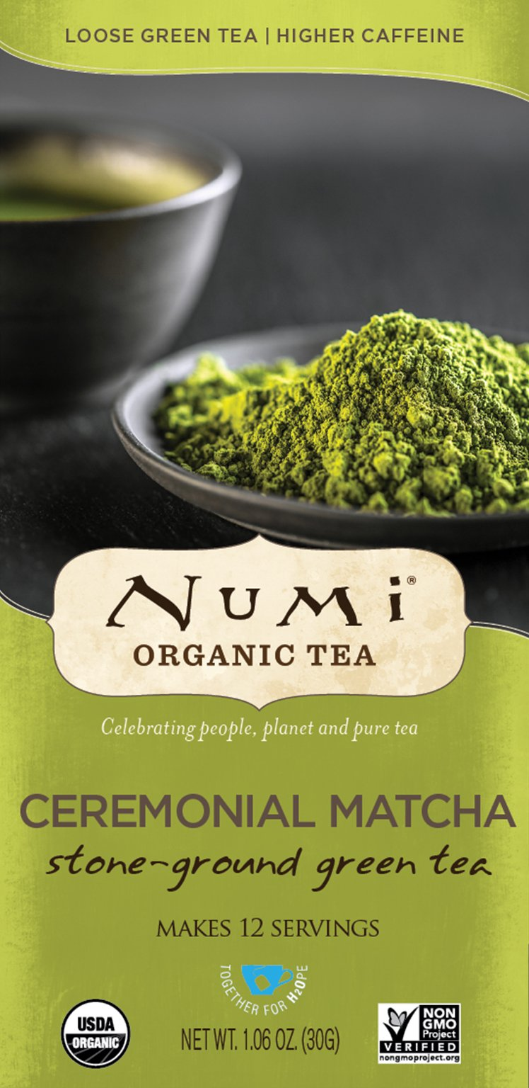 Numi Organic Tea Ceremonial Matcha, 30 Grams per Box (Pack of 6 Boxes) Highest Grade Japanese Matcha Green Tea Powder