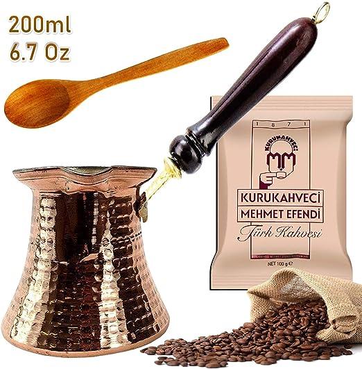 Cafetera turca de fundición y tallado, cafetera arábiga griega de cobre, cafetera para horno, para aquellos interesados en la cultura del café turco, juego de 3 250 ml (bronce): Amazon.es: Hogar