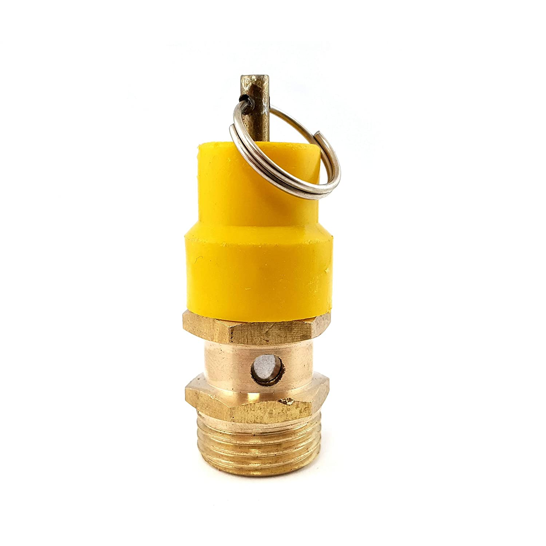 1//2 BSP BSPP air compressor pressure safety release valves 13.2bar 192PSI Relief