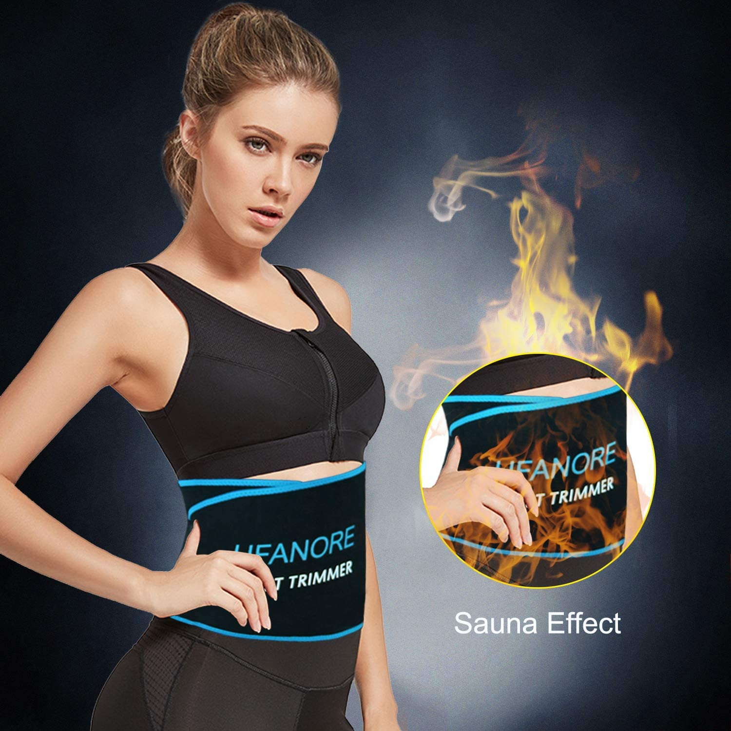 Ufanore Waist Trainer for Men /& Women Breathable Abdominal Waist Trimmer Adjustable Waist Cincher Trainer for Slimming Body/ Stomach and Low Back Support