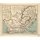 Vintage 1899 Map of South Africa. South Africa