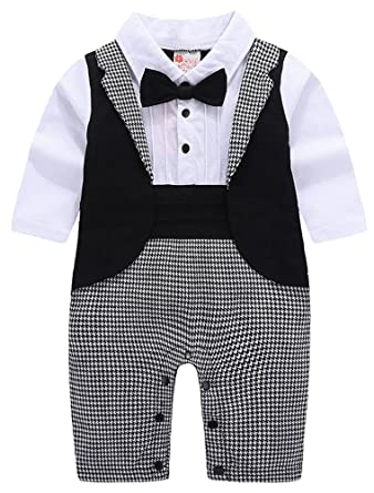 e2d5d0402 ARAUS Baby Boy Gentleman Christening Suit Formal Wedding Tuxedo Suit ...