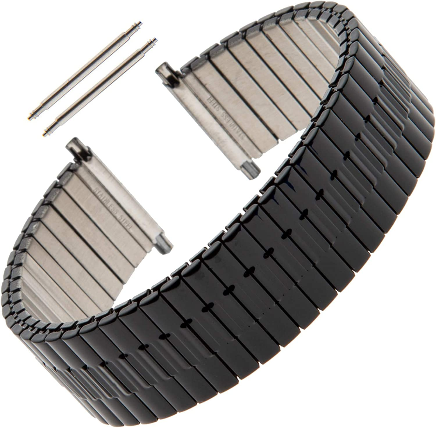 Gilden Gents Expansion 20-24mm Wide Stainless Steel Watch Band 552W
