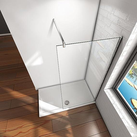 Mampara ducha Panel Pantalla Fija cristal 8mm templado para baño (90x200cm): Amazon.es: Bricolaje y herramientas