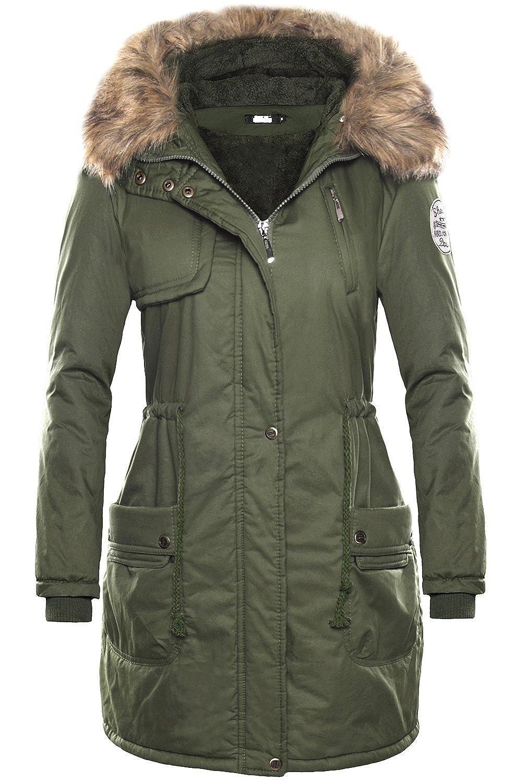 VADOOLL Women Thicken Fleece Faux Fur Warm Winter Coat