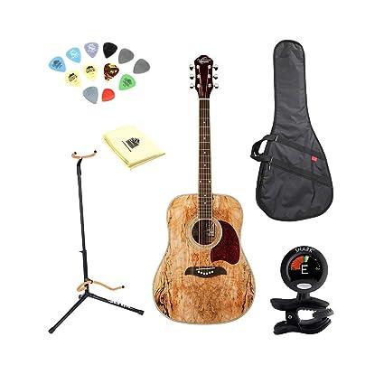 Oscar Schmidt OG2SM Guitarra Acústica - madera de arce) con gamuza ...