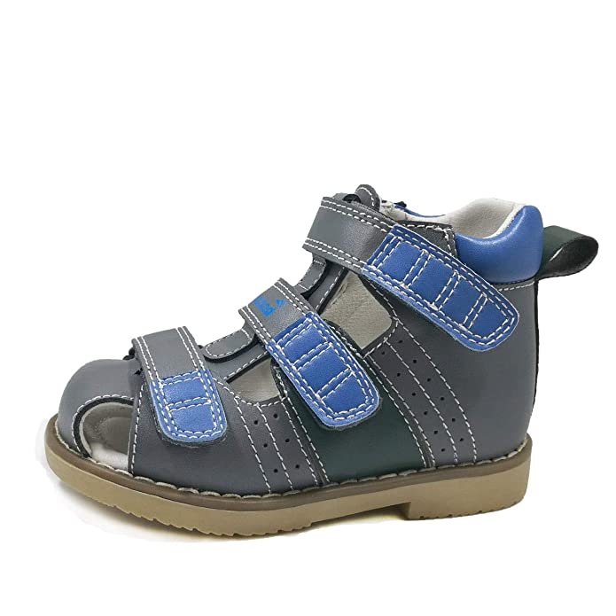 Ortoluckland Little Kids Corrective Orthopedic Shoes Leather Sandal