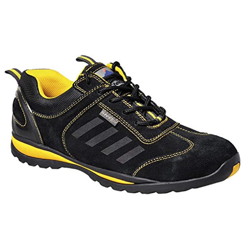 Portwest Steelite Lusum Safety Trainer Black 7.5 R & Bandana Bundle