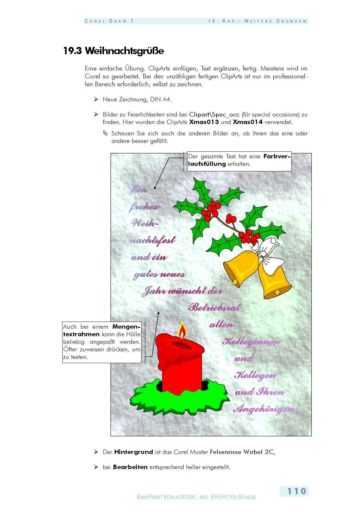 CorelDraw 7. Schulungsbuch mit Übungen: Amazon.de: Peter Schießl: Bücher
