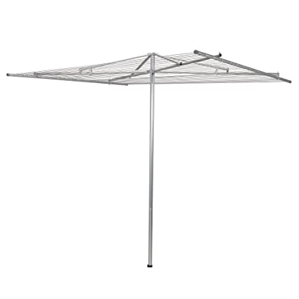 Beau Household Essentials 17140 1 Rotary Outdoor Umbrella Drying Rack | Steel |  30 Lines