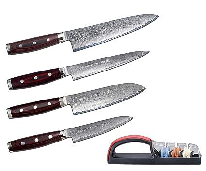 Compra Juego de cuchillos de damasco Yaxell Super Gou 161 ...
