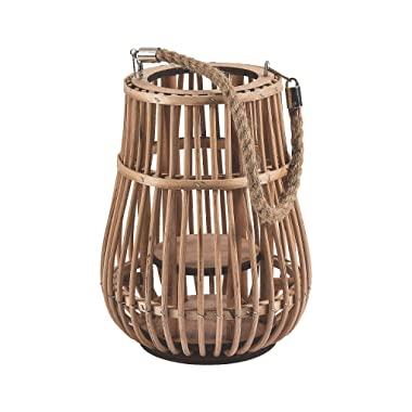 Fun Express Rattan Natural Lantern with Handle - Wedding and Home Decorations