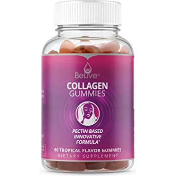 Collagen Gummies Supplement for Women – Hair, Skin and Nails Vitamins Gummy | All-Natural & Marine Sourced. Kosher & Halal Certified - Tropical Flavored 60 ...