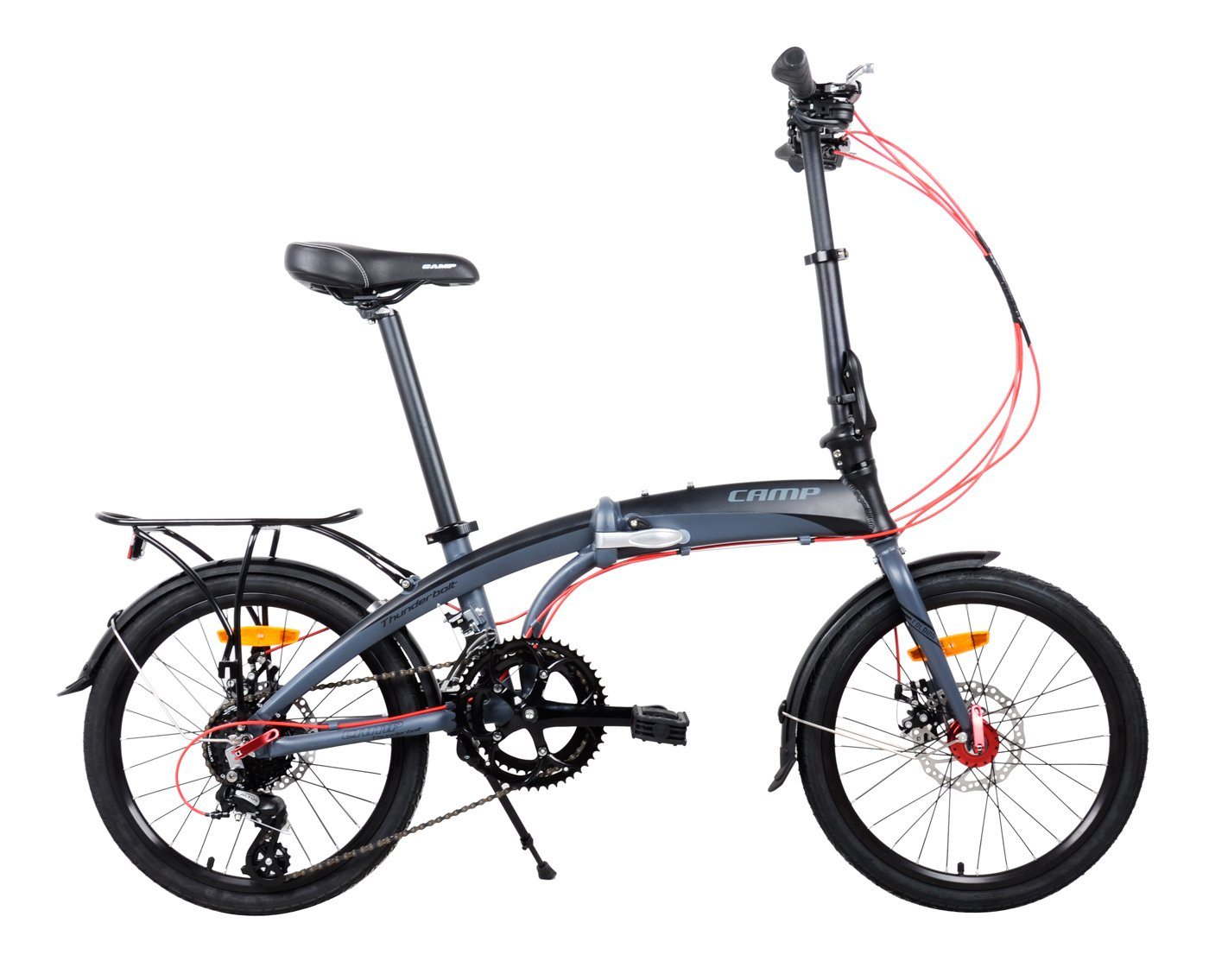 "Camp 20"" Alloy 16 Speed Folding Bike"