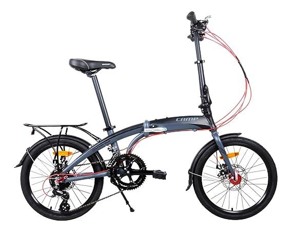 CAMP Bicicleta Plegable para Hombre o Mujer, de Aluminio, 16 ...