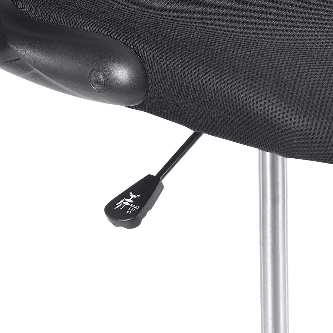 Ulikit Ergonomic Black Mesh Drafting Chair, Office Adjustable Chair Drafting Stool with Adjustable Foot Rest with Arm by Ulikit (Image #6)