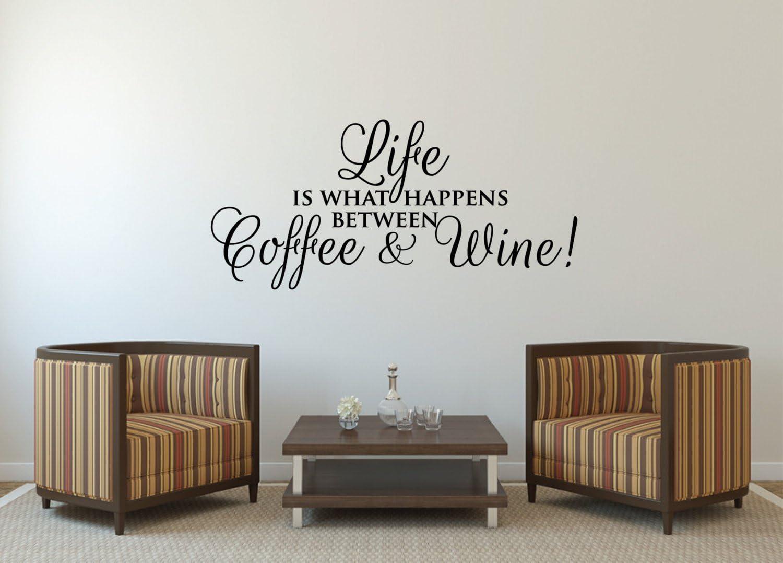 WINE A BIT wall art sticker vinyl quote KITCHEN CAFE