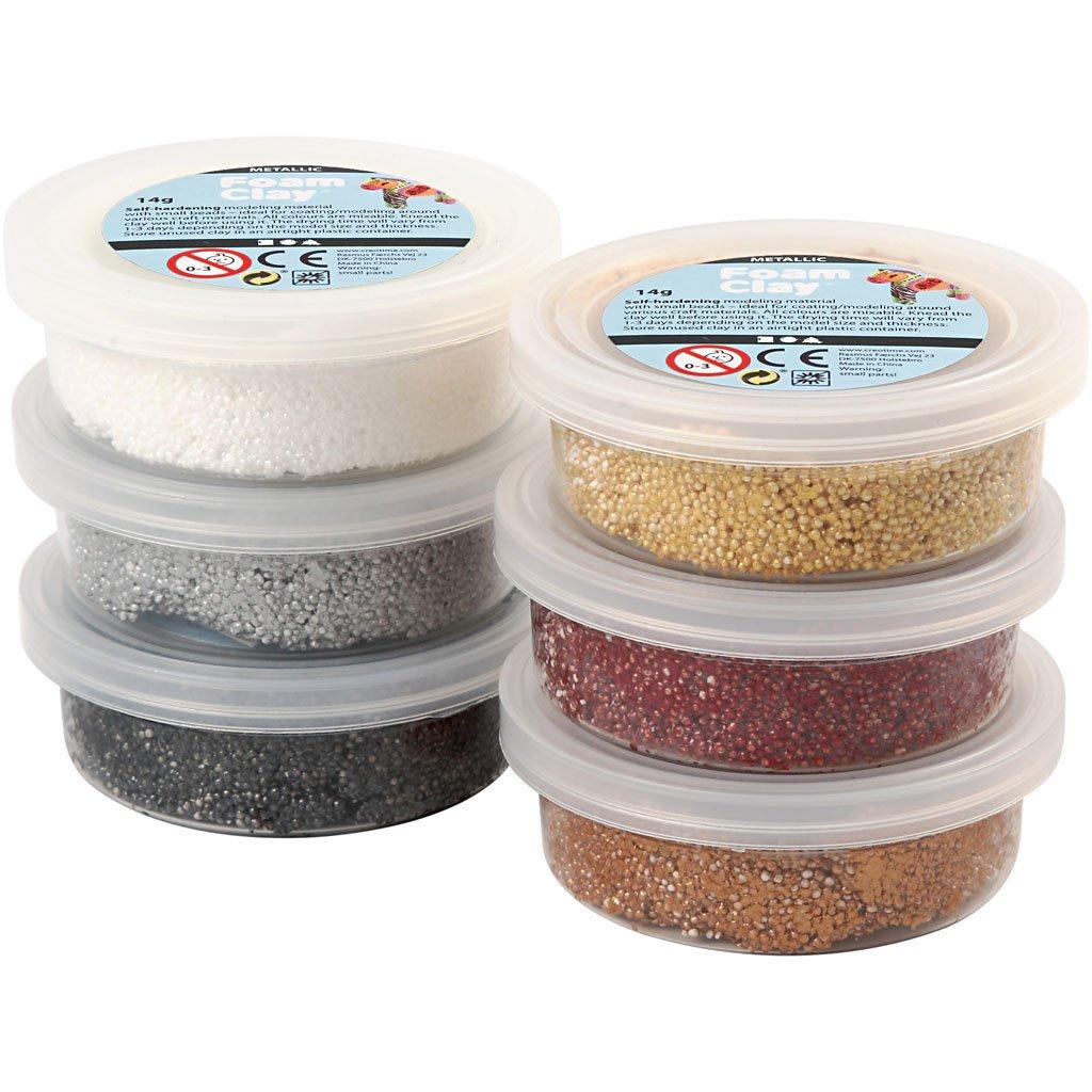 Foam Clay - Metálico, colores surtidos, 6x14gr Creativ 78810
