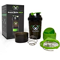 Protein Shaker Bottle - Leak Proof Protein Mixer Cup | Non-Slip Gym Protein Blender Bottle with Supplement and Pill…