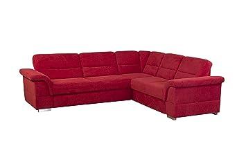 Cavadore Eck Sofa Tuluza Mit Bett Moderne Eck Couch Mit Schlaffunktion Rot Grosse 262 X 87 X 233 Cm Bxhxt Rot