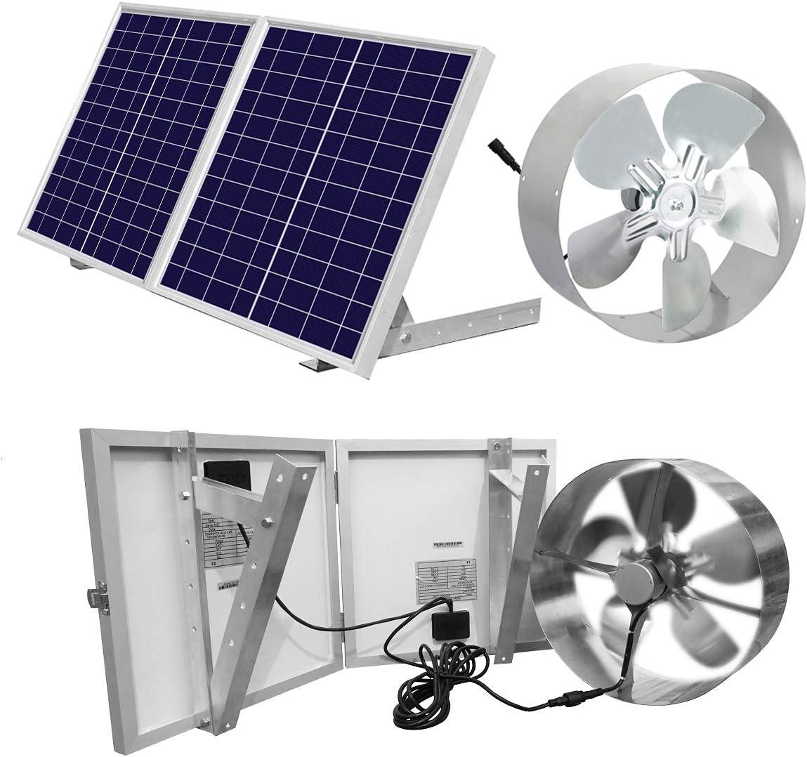 DC Casa 25 W Solar ático Ventilador Ventilador de ventilación de ...