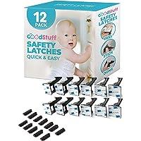 Cierres de seguridad para niños – Rápido y fácil adhesivo a prueba de bebés gabinetes y cajones – Seguridad infantil sin…