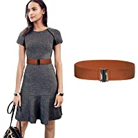 Women Wide Elastic Buckle Belt - 1.97'' Wide Waist Belt Cinch Belt Trimmer Stretch Waistband for Women and Girls Dress