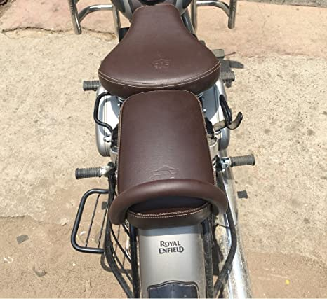 Swell Sahara Gunmetal Coffee Brown Seat Cover And Back Handle Handle Rod For Royal Enfield Classic 350 500 Spiritservingveterans Wood Chair Design Ideas Spiritservingveteransorg