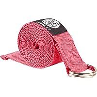 Yamkas Yogariem Katoen – Riem voor een betere stretch –Yoga Strap voor beginners en gevorderden - yogariemen met metalen…