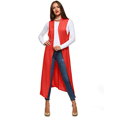 67ea3ba7ac81a Isaac Liev Women s Sleeveless Lightweight Duster Vest at Amazon ...