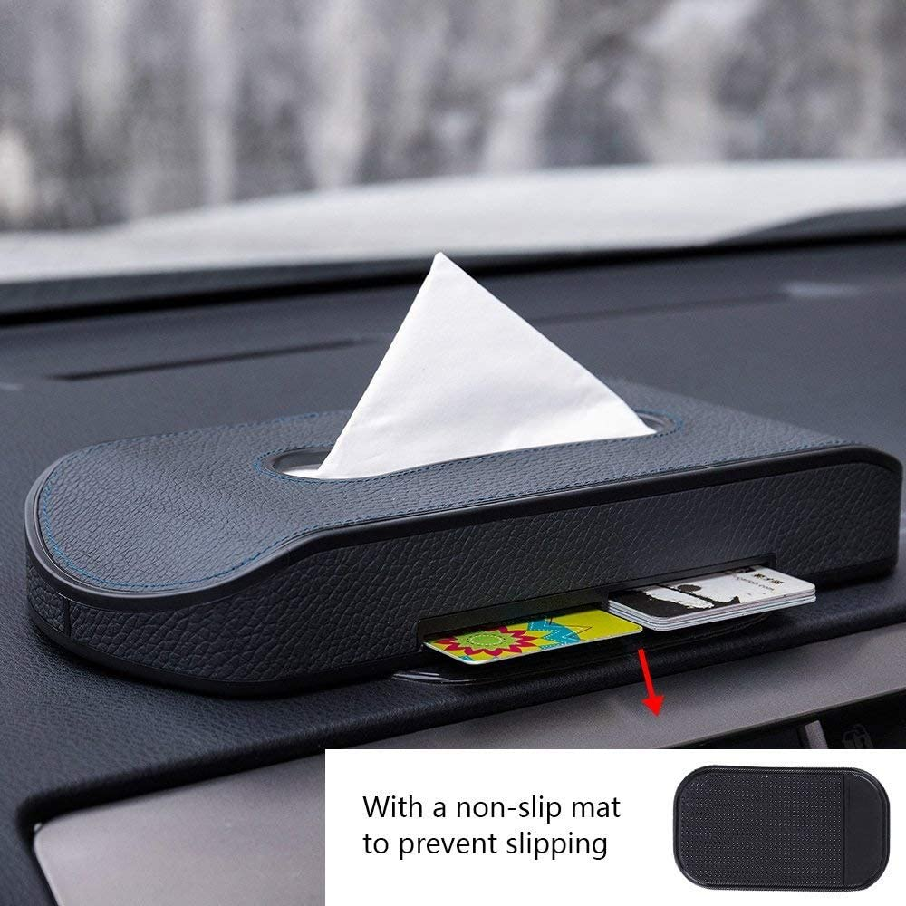 1x Universal Car Paper Tissue Box Container Holder Case Parking Number Plate Box