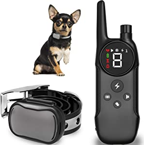 Enrivik Small Dog Shock Collar with Remote for Small Dogs - Dog Training Collar with Remote for Small Dogs 5-15lbs - Waterproof & 1000 Feet Range
