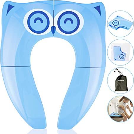 Gimars Foldable Potty Toilet Training Seat for Baby//Children Upgrade Portable